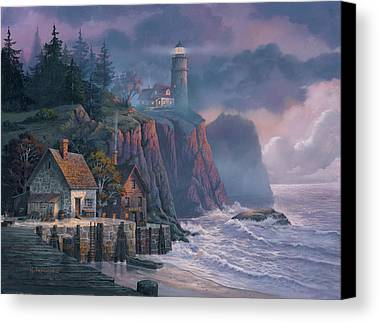 Harbor Light Hideaway Canvas Print by Michael Humphries