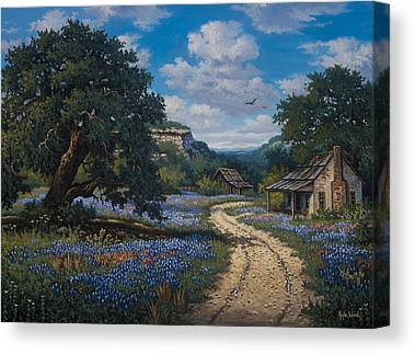 Gravel Road Paintings Canvas Prints