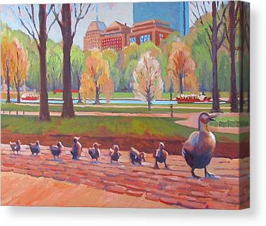 Ducklings Paintings Canvas Prints
