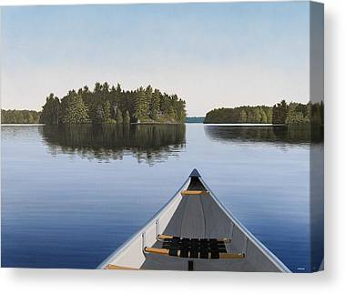 Paddler Canvas Prints