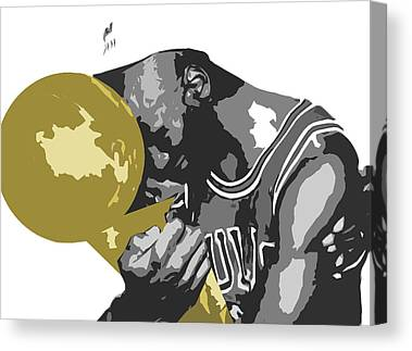 Hoops Digital Art Canvas Prints