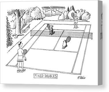 Tennis Drawings Canvas Prints