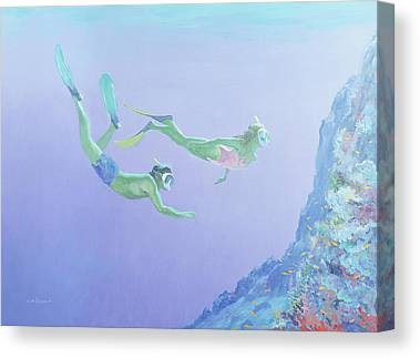 Scuba Diving Canvas Prints