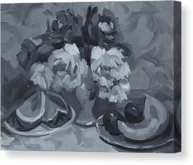 Monochromatic Study Canvas Prints