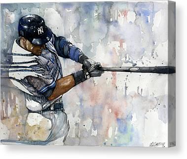 Athletes Paintings Canvas Prints