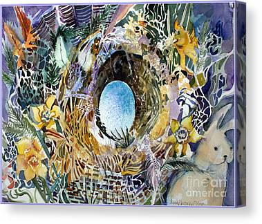 March Hare Mixed Media Canvas Prints