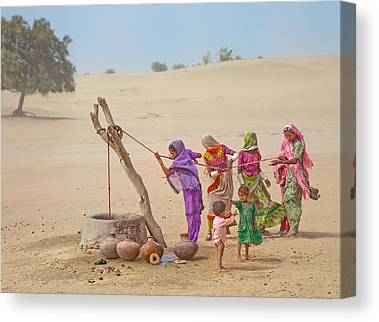 Thar Desert Canvas Prints