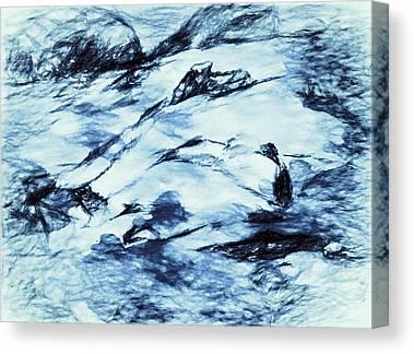 Drifting Snow Drawings Canvas Prints