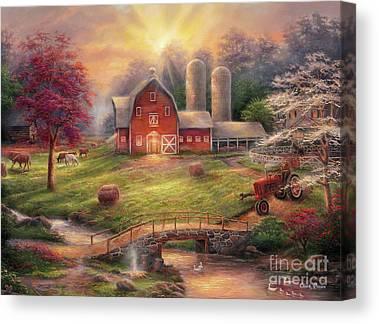 Tractor Canvas Prints