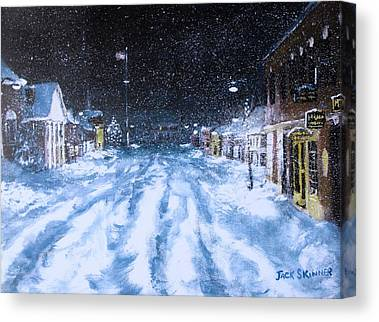 Concord Center Paintings Canvas Prints