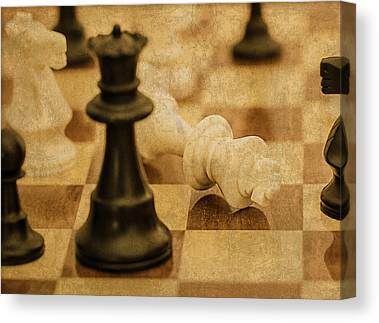 Checkmate Mixed Media Canvas Prints