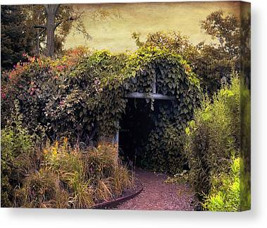 Country Cottage Digital Art Canvas Prints