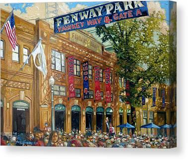 Fenway Park Paintings Canvas Prints