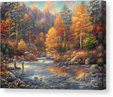 Fly Fishing Canvas Prints