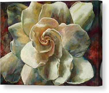 White Gardenia Paintings Canvas Prints
