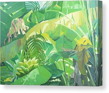 Green Camo Canvas Prints