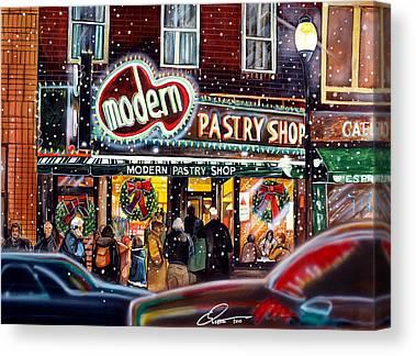 Boston North End Canvas Prints