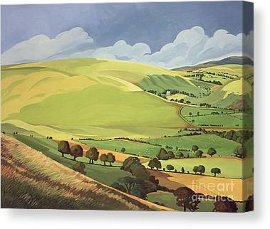 Grass Paintings Canvas Prints