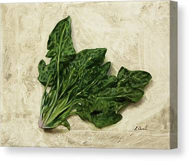 Spinach Canvas Prints