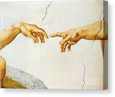 Outstretched Arm Paintings Canvas Prints
