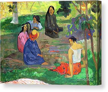 Conversing Paintings Canvas Prints