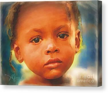 Haitian Mixed Media Canvas Prints