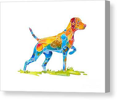 Pointer Dog Canvas Prints