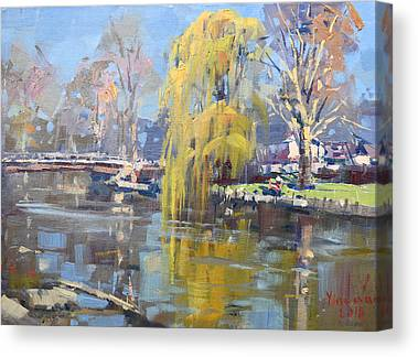 Weeping Willow Canvas Prints