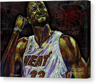 Hall Of Famer Drawings Canvas Prints