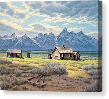 Old Cabins Canvas Prints