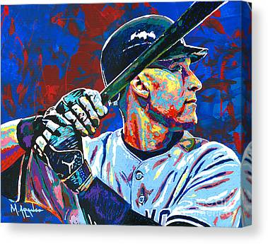 Major League Baseball Paintings Canvas Prints