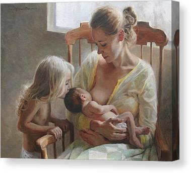 Intimate Portrait Canvas Prints