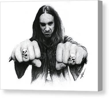 Cliff Burton Drawings Canvas Prints