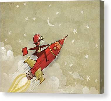 Rocket Canvas Prints