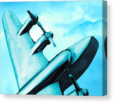 Airliner Canvas Prints