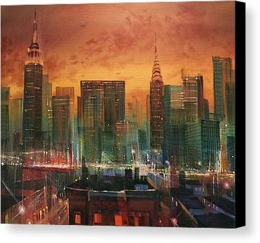 City Scene Canvas Prints