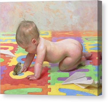 Cherubs Paintings Canvas Prints