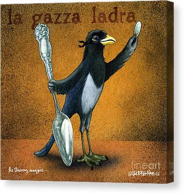 Magpies Canvas Prints