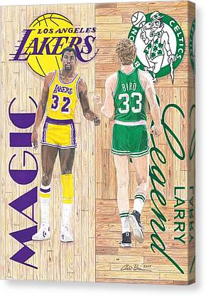 Larry Bird Drawings Canvas Prints
