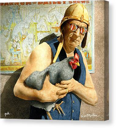 Chickens Canvas Prints