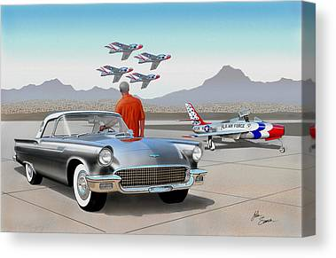 Art print POSTER Canvas Vintage Ford Thunderbird