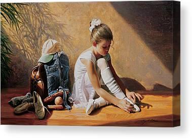 Brunette Canvas Prints