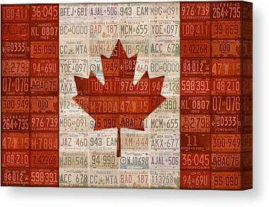 Canadian Flag Canvas Prints Fine Art America