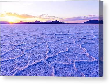 Salt Crystal Canvas Prints