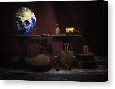 Weight Of The World Canvas Prints