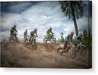 Motocross Canvas Prints Fine Art America