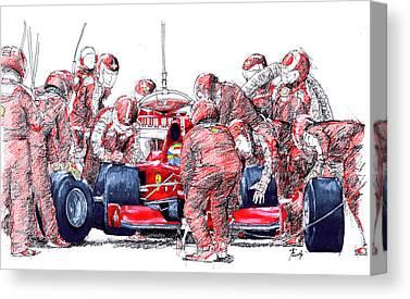 Vintage Race Cars Canvas Prints