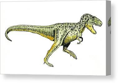 Tyrannosaurus Rex Canvas Prints