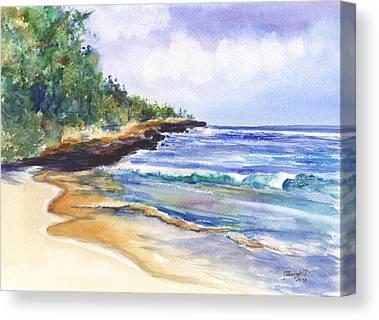 Mahaulepu Beach Canvas Prints