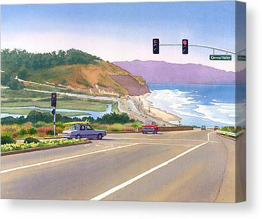 Pacific Coast Highway Canvas Prints